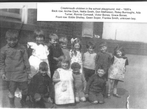 Gwen Soper & her classmates - front row, 2nd left.
