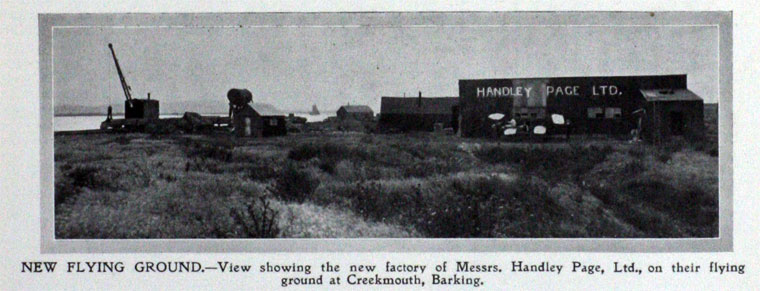 PHOTO 1909 Handley Page Factory